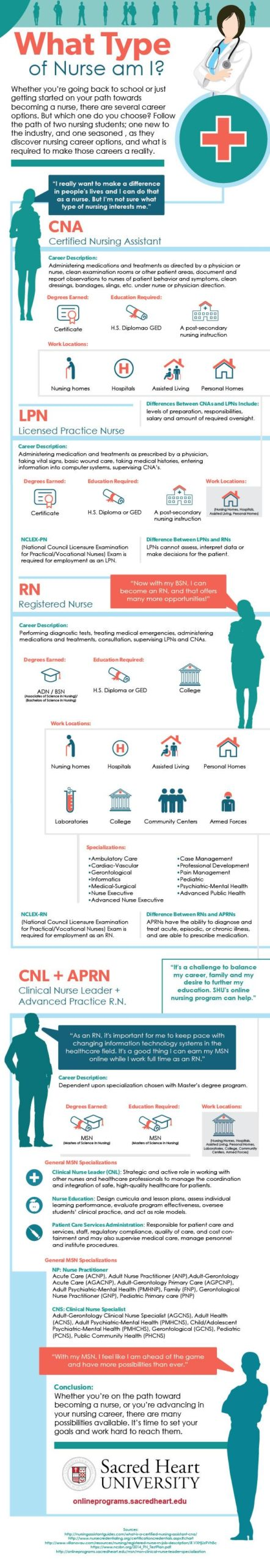 Infographic that examines career pathways for nursing professionals at different career stages.